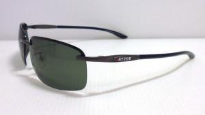 1112- metal and plastic mixed polarized sunglasses- frameless sunglasses